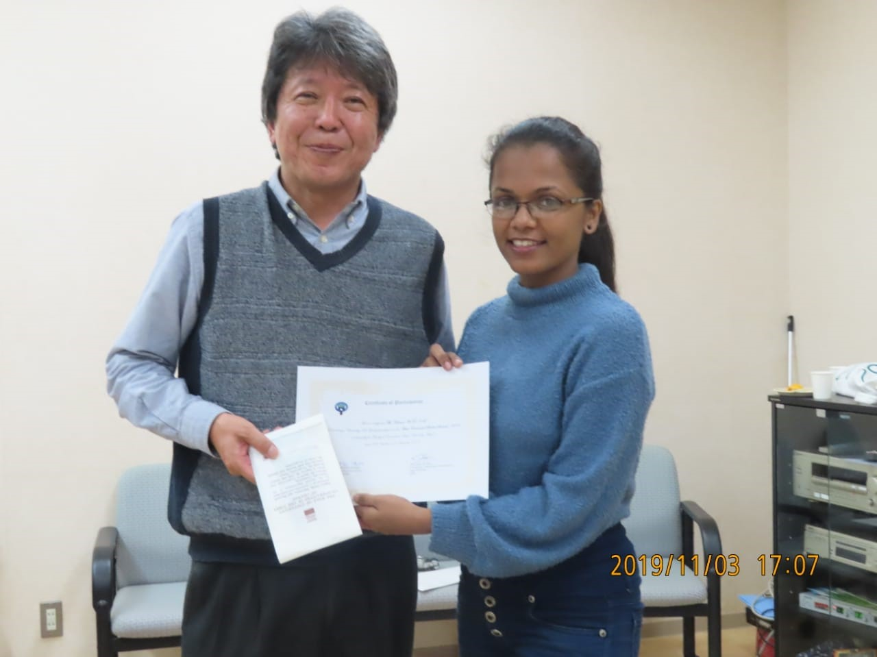 Final year student of the Department, participated in