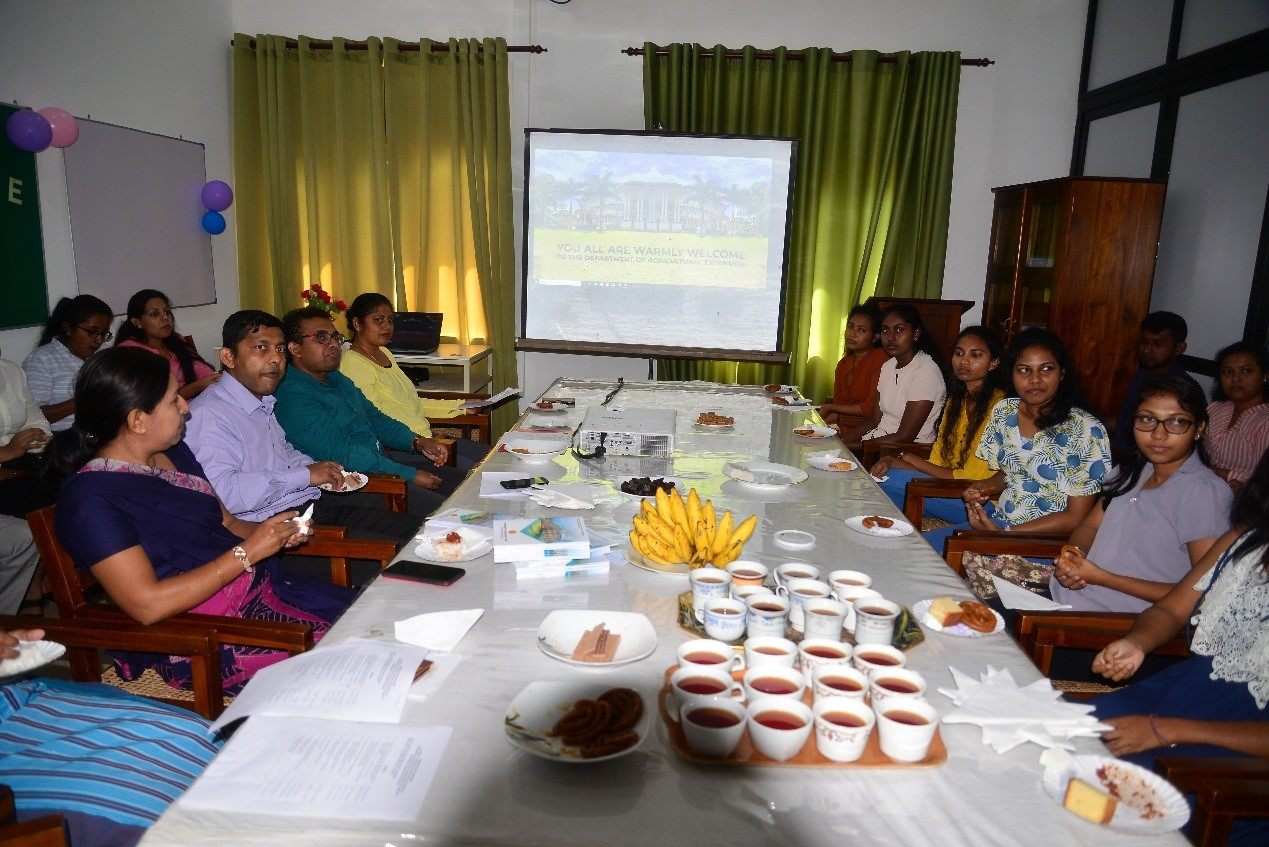 Orientation programme for New Agricultural Extension majoring students