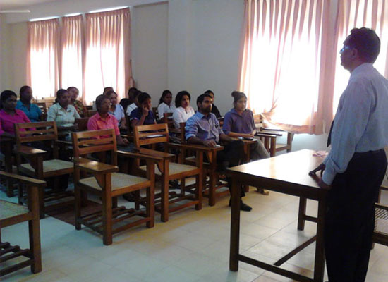 Mr. P.C. Arampath, Head of the Department addressing the students.